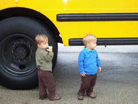 Boys school bus