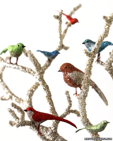 Glittered birds